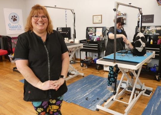 Susan Sefcek is the owner of Susan's Doggy Spa, which moved to its new location earlier this month.