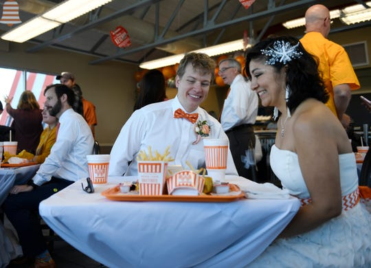 Corpus Christi couple Dylan and Sharon Welch were married at Whataburger by the Bay, Friday, Feb. 14, 2020.