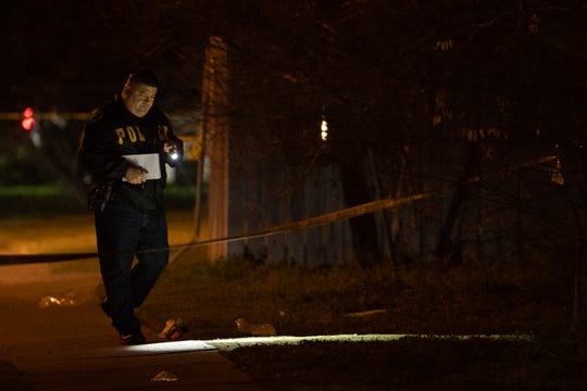 Corpus Christi Police investigate a shooting on Carolyn Drive on Thursday, Feb. 13, 2020.