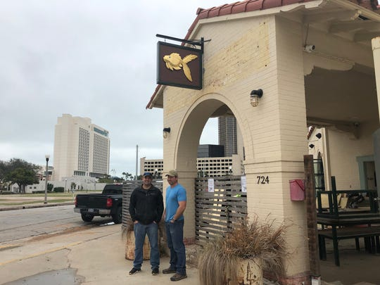 Mike Treiber, left, who owns Cassidy's Irish Pub, and his business partner, Houston Boswell, right, bought the Gold Fish bar from Robert Cooper on Jan. 1 They plan to reopen it in March after upgrading the bar.