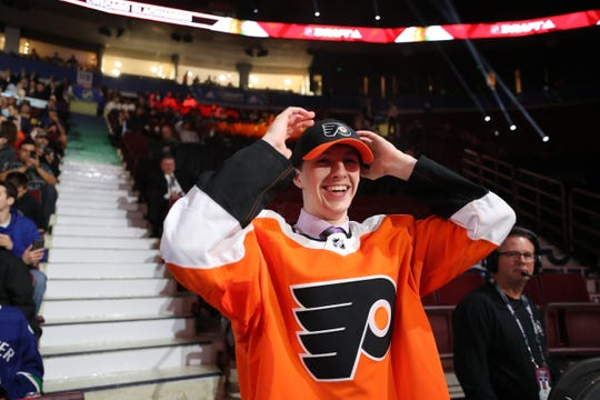 Mason Millman, 18, was one of three defensemen the Flyers selected in the 2019 draft.