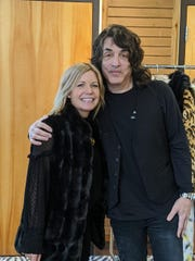 Paul Stanley visited Donna Salyers' Fabulous-Furs in Covington.
