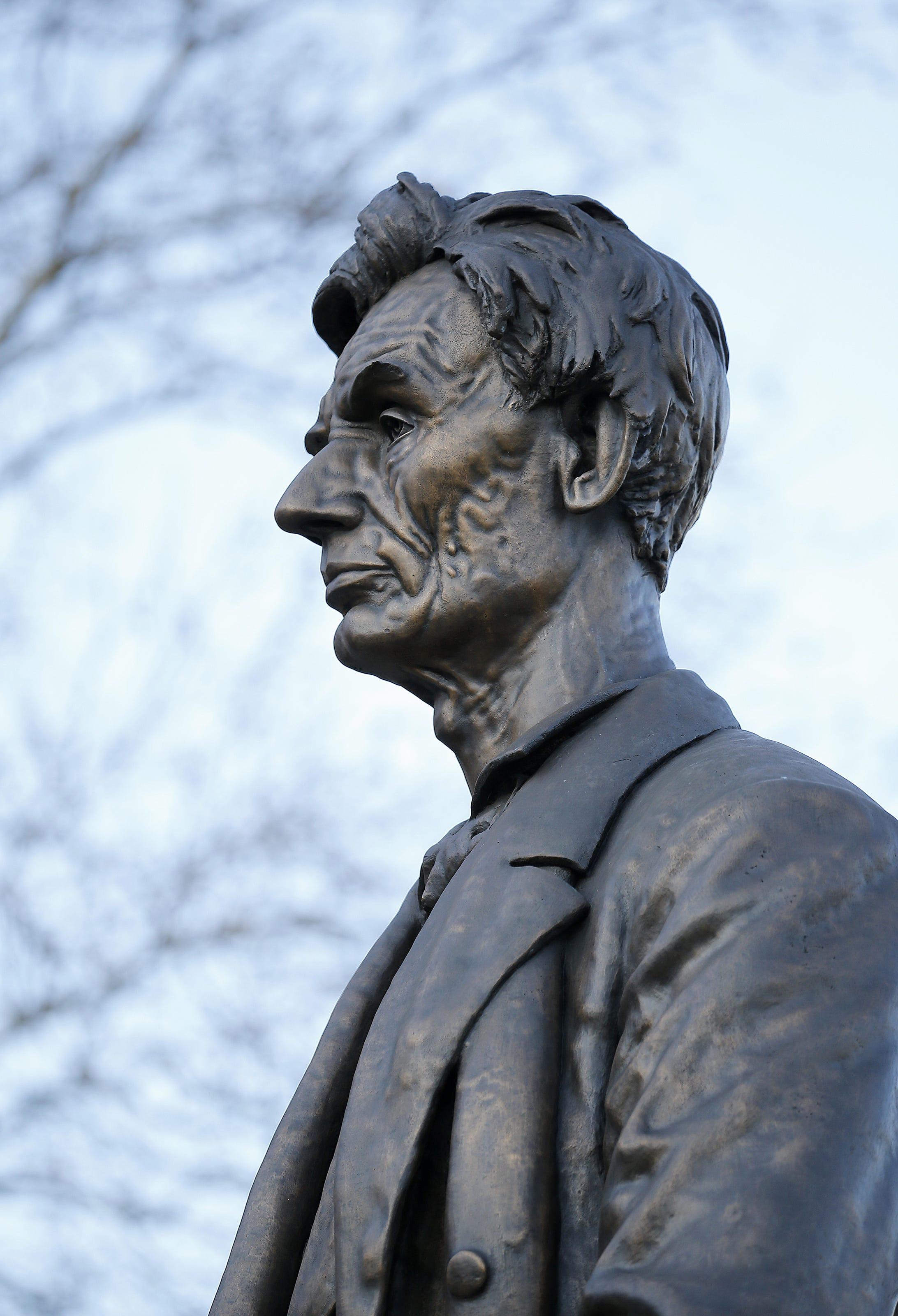 President Statues Of Lincoln Taft Garfield And Harrison In Cincinnati