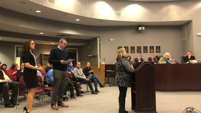 Rounds of applause echoed in the Blue Ash City Council chambers Thursday night as residents and business owners expressed their concerns about the city's proposed Plainfield and Hunt Road Roundabout Project.