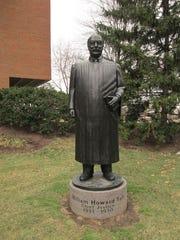 FEBRUARY 10, 2013: Statue of William Howard Taft at the University of Cincinnati College of Law.