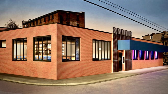 A rendering of e-19, discotheque and lounge bar will open across from Rhinegeist.