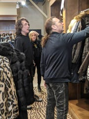 Paul Stanley and Eric Singer visited Donna Salyers' Fabulous-Furs in Covington.