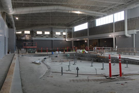 Work continues on the Piscataway Community Center on Hoes Lane, Piscataway.
