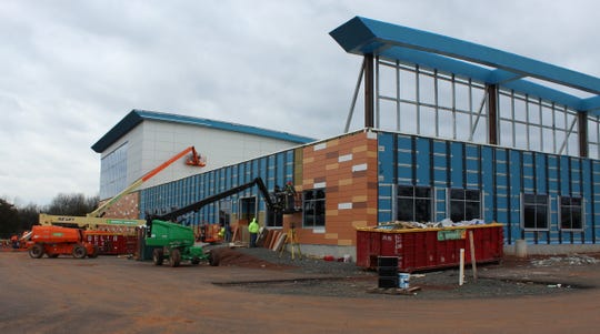 Work is continuing on the Piscataway Community Center on Hoes Lane in Piscataway.