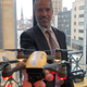 Michael Healander with a drone on Thursday, Feb. 13, 2020 at the  Airspace Link Office on Clifford Street in downtown Detroit.