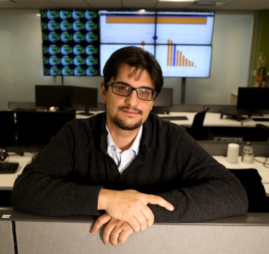 Fabio Caversan, the artificial intelligence research and development director for Stefanini  at their Southfield offices on Thursday, February 3, 2020.