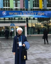 Imam Elahi at the conference in South Korea.
