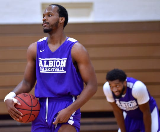 Quinton Armstrong listens to instructions during practice.