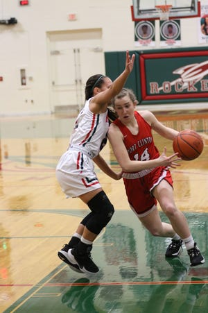 Port Clinton's Marcella Brenner handles the ball.