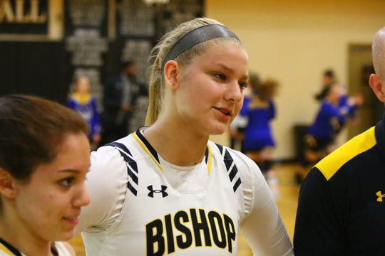Bishop Verot played host to North Port Imagine School in a girls basketball Class 3A quarterfinal on Thursday, Feb. 13. Addison Potts scored a game-high 27.