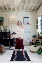 Cream Sweater: Paige, J. Britt | Silk Charmeuse Skirt: Anine Bing, Augusta Twenty Pumps: Marc Fischer, Monkees of the West End