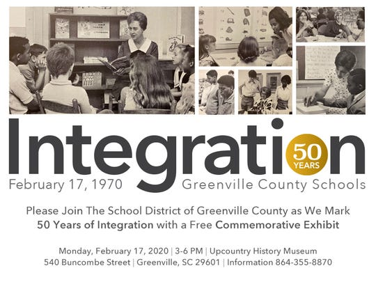 Greenville County Schools is hosting an event commemorating the 50th anniversary of desegregation in the district.