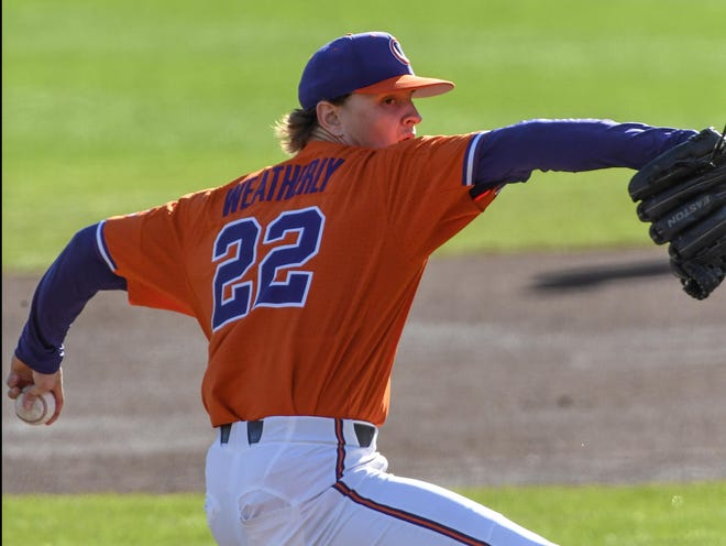 Sam Weatherly of Howell was 2-0 with a 0.79 ERA in four starts during an abbreviated junior season at Clemson.