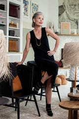 Knit Dress: Naadam, Augusta TwentyBooties: Brenda Zaro, Monkees of the West End | Necklace: Collanevrosi Jewelry, Augusta Twenty