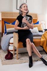Knit Dress: Joy Joy, J. Britt | Booties: Marc Fischer, Monkees of the West End Tortoise Earrings: Muse Shoe Studio | Bag: Clare V., Augusta Twenty