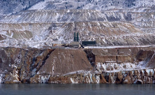 The Horseshoe Bend Treatment Plant is seen in 2016 at the far shore of the Berkeley Pit in Butte.