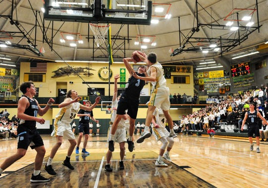 CMR takes on Great Falls High in the boys crosstown basketball game on Thursday in the CMR Fieldhouse.