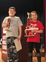 The District Spelling Bee was held Thursday, Feb. 13, at South Middle School. In the K-3rd grade division the winner was Cassidy James, from East Heights, and the runner-up was Drey Walker, from Spottsville.