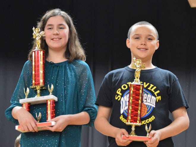 The District Spelling Bee was held Feb. 13 at South Middle School. In the 4th and 5th grade division, the winner was Ava Zigler, from Cairo Elementary, and the runner up was DeArion Stewart, from Spottsville.