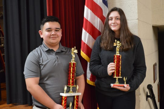 The District Spelling Bee was held Thursday, Feb. 13, at South Middle School. In the Middle Grades Division, the winner was Ryan Gillette, from North Middle School, and the runner-up was Alissa McLevain, from South Middle School.