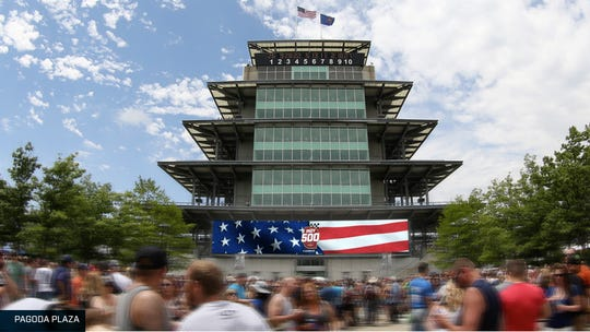 A rendering from Indianapolis Motor Speedway shows one of more than 30 new video boards that will be installed ahead of the 104th running of the Indianapolis 500.