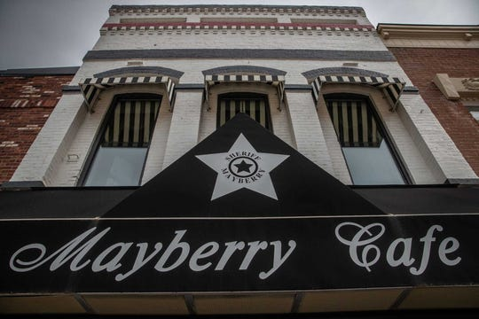 The Mayberry Cafe is a central point in Danville.