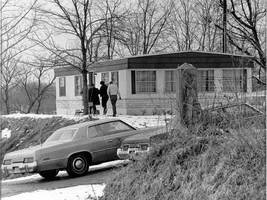 The Hollandsburg mobile home where the murders occurred in 1977