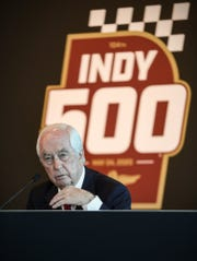 Roger Penske speaks at a news conference at the track on Friday, Feb. 14, 2020.