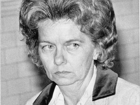 Betty Jane Spencer of Hollandsburg, Ind., was the only survivor of a Valentine's Day 1977 killing that left her son and three stepsons dead. She is shown here entering the courtroom to testify against the killers.