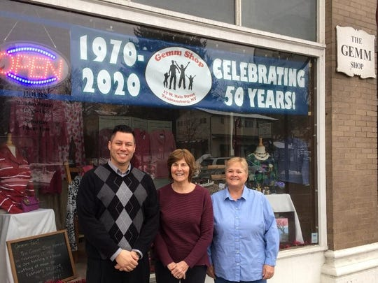 Trumansburg Mayor Rordan Hart, Gemm Shop Chairperson Karen Powers and treasurer Gail Zabawsky will be on hand Feb. 27, 2020 as the successful nonprofit thrift store kicks off celebrations to commemorate its 50th anniversary.