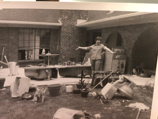 Sharron Belew, 79, of Jackson, shares a photo from the aftermath at her home following the Easter Flood of 1979. Her and her husband, Joe, have lived in their home since 1977.