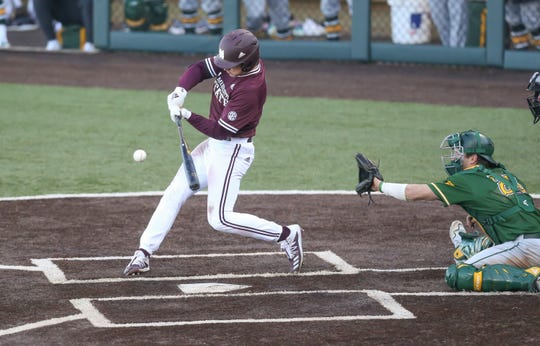 Mississippi State junior centerfielder Rowdey Jordan led the Bulldogs to a 9-6 opening day victory over Wright State.