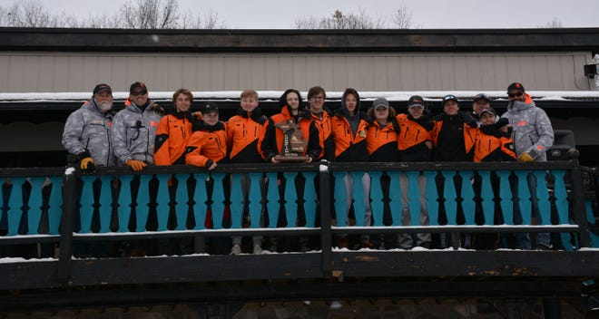 Brighton's boys ski team won the regional championship at Alpine Valley Ski Resort on Thursday, Feb. 13, 2020.