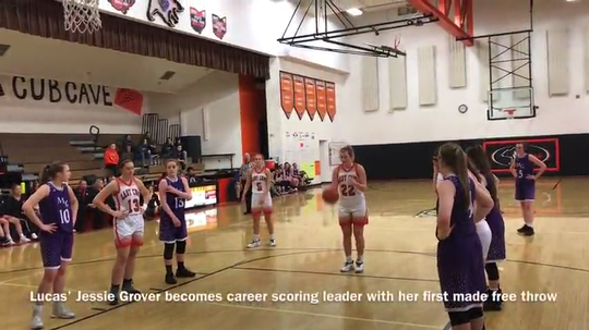 With 23 points in an overtime win over Mount Gilead, Jessie Grover became the girls basketball program's all-time leading scorer.