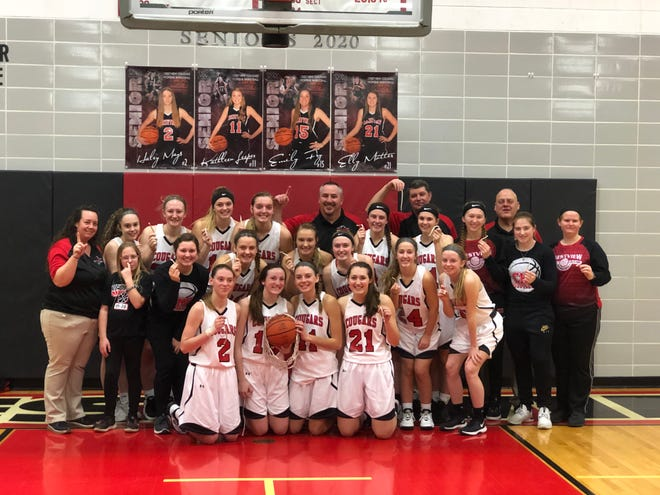 The Crestview Lady Cougars completed an undefeated Firelands Conference season with a win over Mapleton on Thursday night.