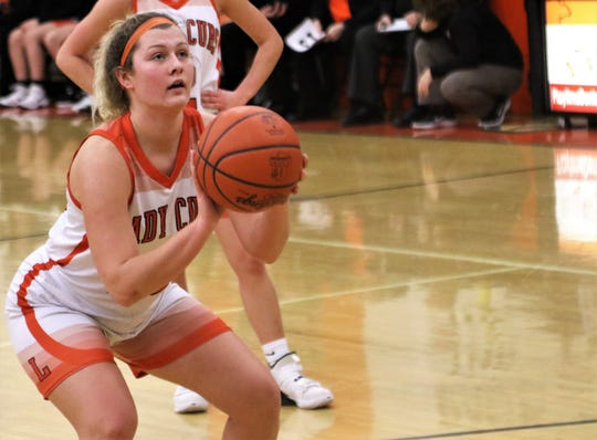 With a free throw late in the fourth quarter of a 51-49 overtime win over Mount Gilead on Thursday night, Lucas' Jessie Grover became the program's all-time leading scorer with 1,463 points.