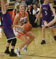 Lucas' Jessie Grover made history by becoming the Lady Cubs all-time leading scorer in a win over Mount Gilead last week.