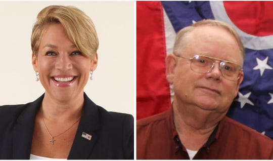 "Republican Ohio Senate candidate Melissa Ackison, left, has been asked by Marion County Republican Party Chairman Bob Schultz, right, to refrain from ""personal attacks against those who disagree with her"" for the remainder of the primary campaign. Ackison, from Marysville, is running against State Rep. Bill Reineke of Tiffin for the GOP nomination for the 26th District seat in the Ohio Senate. The winner will face Democrat Craig Swartz of Upper Sandusky in the November general election."