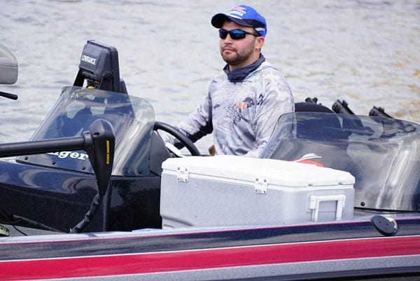 Jake Kaprelian is a guide who specializes in catching walleyes on Green Bay.