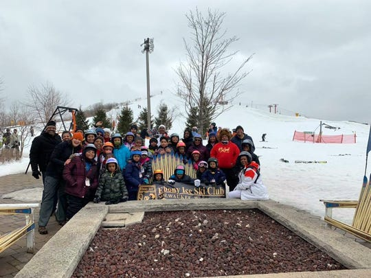 The Ebony Ice Ski Club held a Learn to Ski event at The Rock in Franklin on Feb. 1, 2020.
