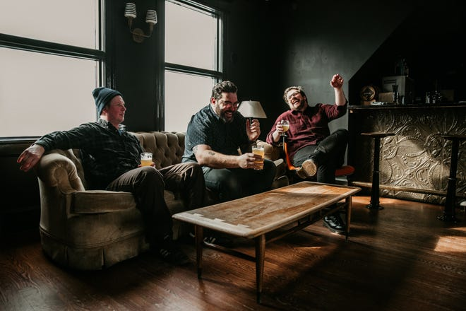 Young Blood Beer is the brainchild of, from left,  Kyle Gregorash, Tom Dufek and Bill DuPlanty.
