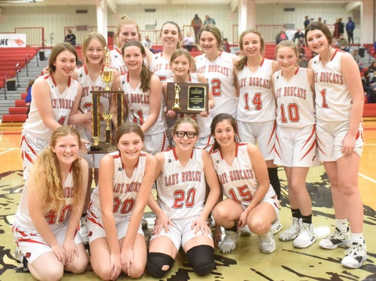 The Flippin Junior Lady Bobcats won the 2A-1 District championship Thursday night to go with their regular season conference title.