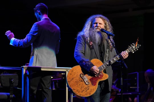 Jamey Johnson performs with the Nashville Symphony during the Boudleaux & Felice Bryant Centennial Celebration on February 13, 2020 at Schermerhorn Symphony Center.
