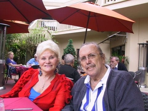 Nancy Schumacher and her late husband, Kay Schumacher.