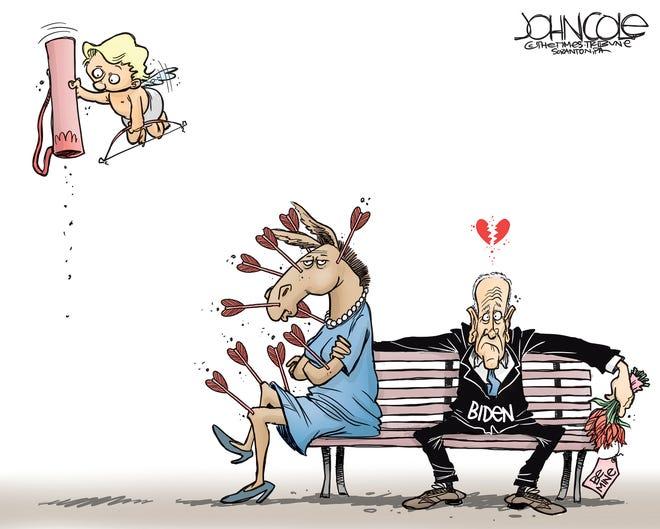 Cupid fails Biden with Democrats.